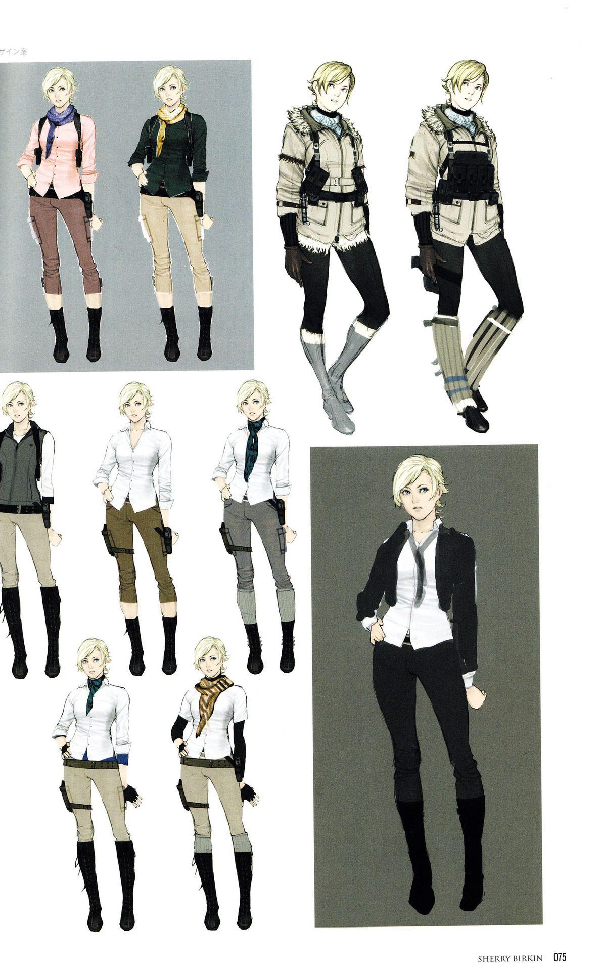 Re6 Artbook Concepts Resident Evil Girl Resident Evil Resident