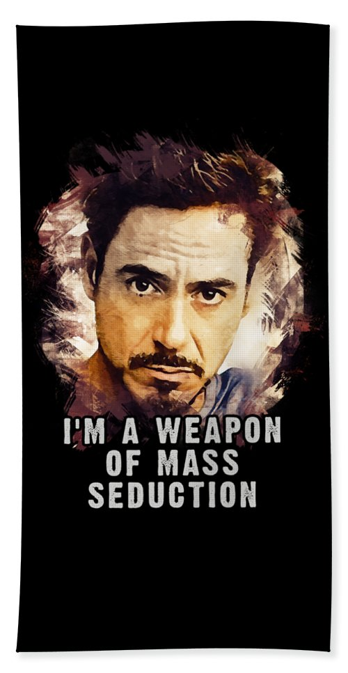 Rdj Weapon Of Mass Seduction Beach Towel For Sale By Dusan