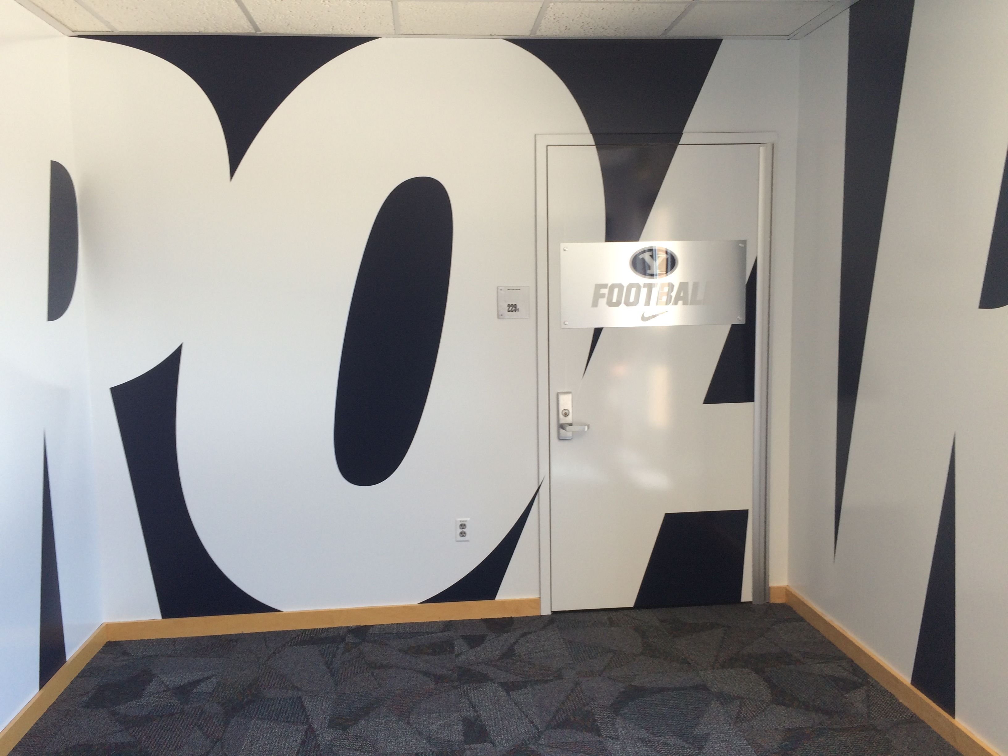 Entrance To Byu Football Team Room By Dave Broberg Wall Design