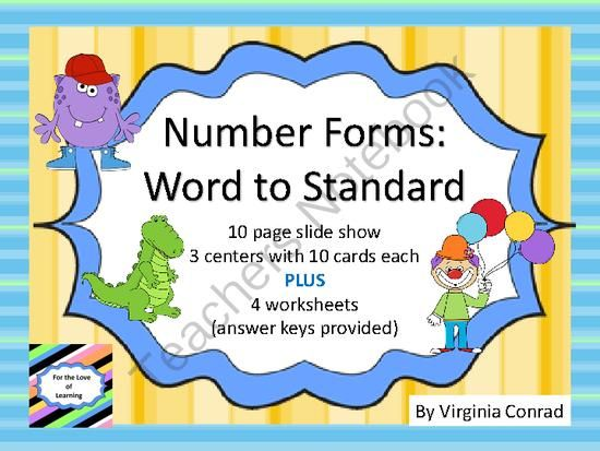 Word To Standard Form 4 Digit Numbers From Back To Basic Skills On