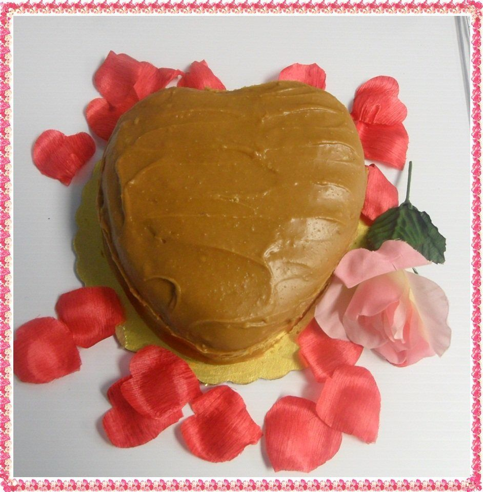 Heart Shaped Caramel Cakes, Cakes By Nette