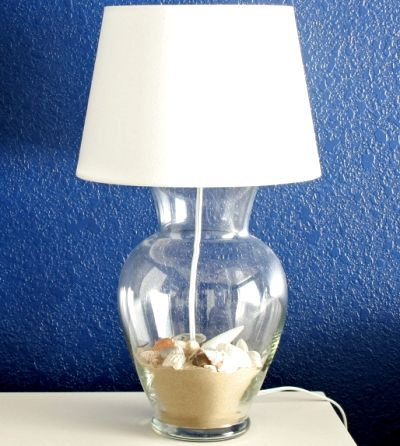 Make A Lamp From A Vase Or Jar To Fill With Treasures Crafts3