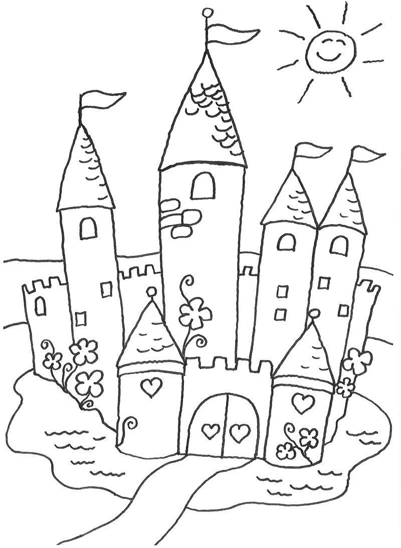 Malvorlagen Schloss Http Www Ausmalbilder Co Malvorlagen Schloss Coloring Books Coloring Pages Doodles