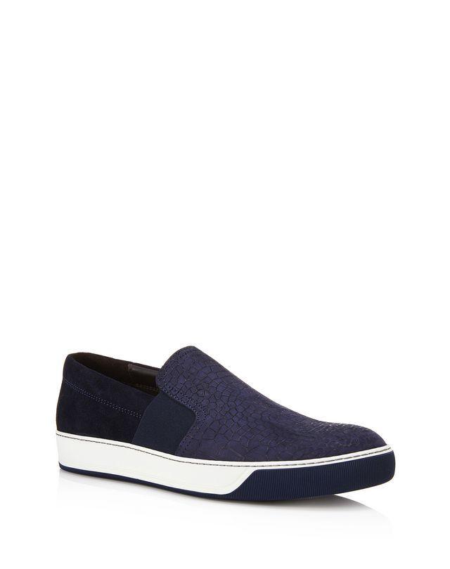 Lanvin Embossed Calfskin Slip On Sneaker  Men  Lanvin Online