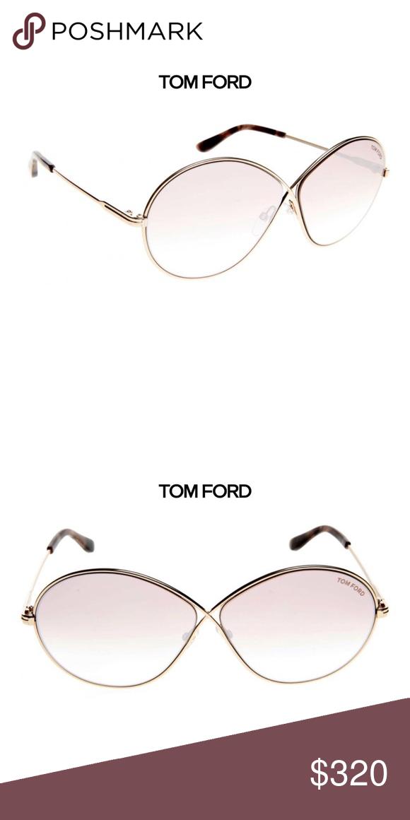 43e96485e24e5 TOM FORD Rania 02 Sunglasses Rose Gold NWT These TOM FORD sunglasses  feature shiny rose gold