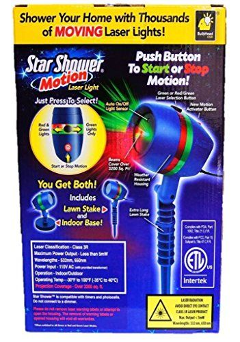 Star Shower As Seen on TV Motion Laser Lights Star Projector - As