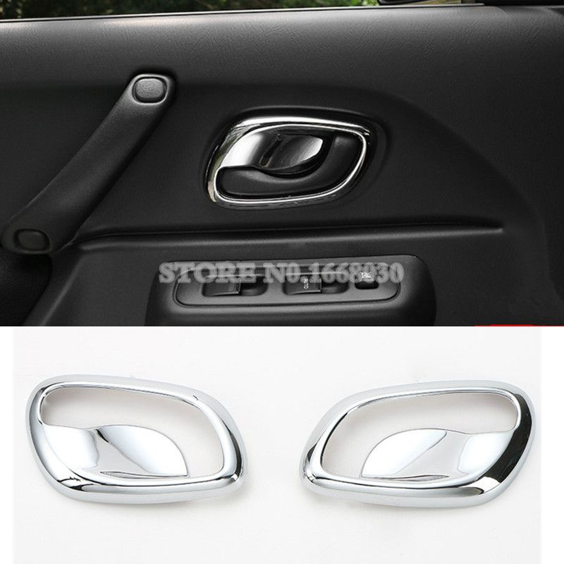 Abs Chrome Car Door Handle Bowl Cover Trim 2pcs For Suzuki Jimny 2007 2015 Suzuki Jimny Interior Accessories Chrome Cars