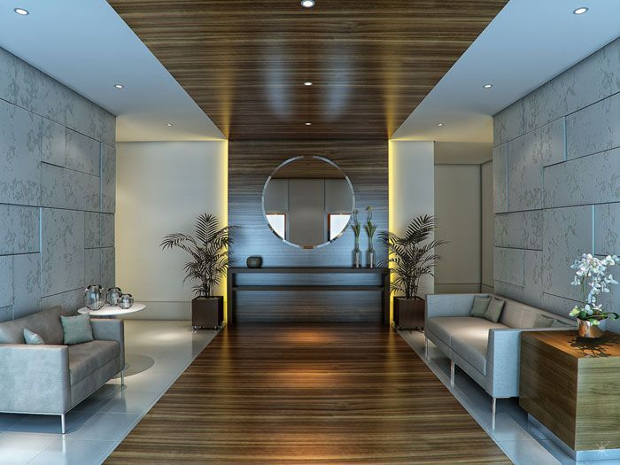 Resultado de imagen para hall de edificios decoracion - Decoracion hall de entrada edificios ...
