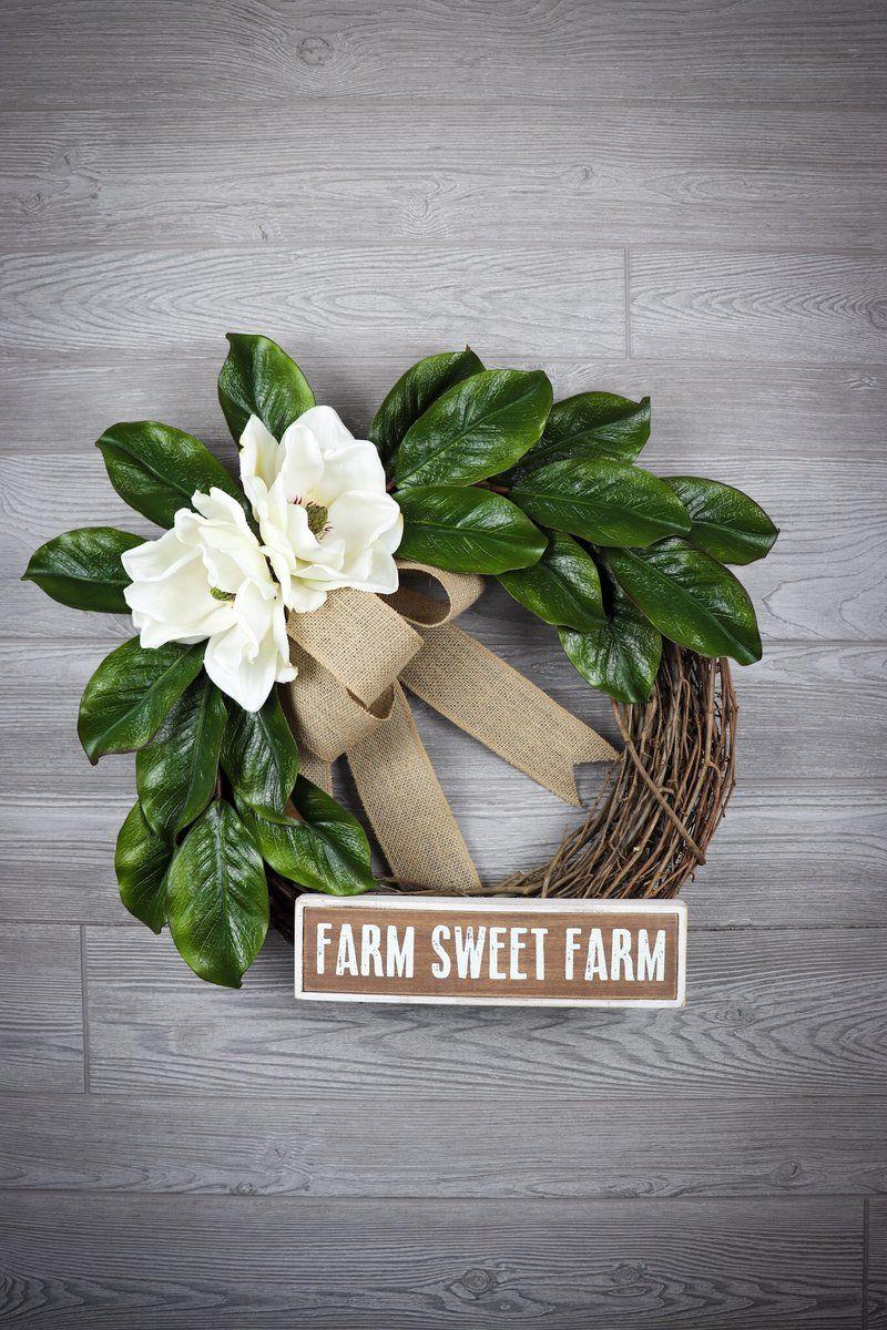 Photo of Magnolia wreath (Farm Sweet Farm)
