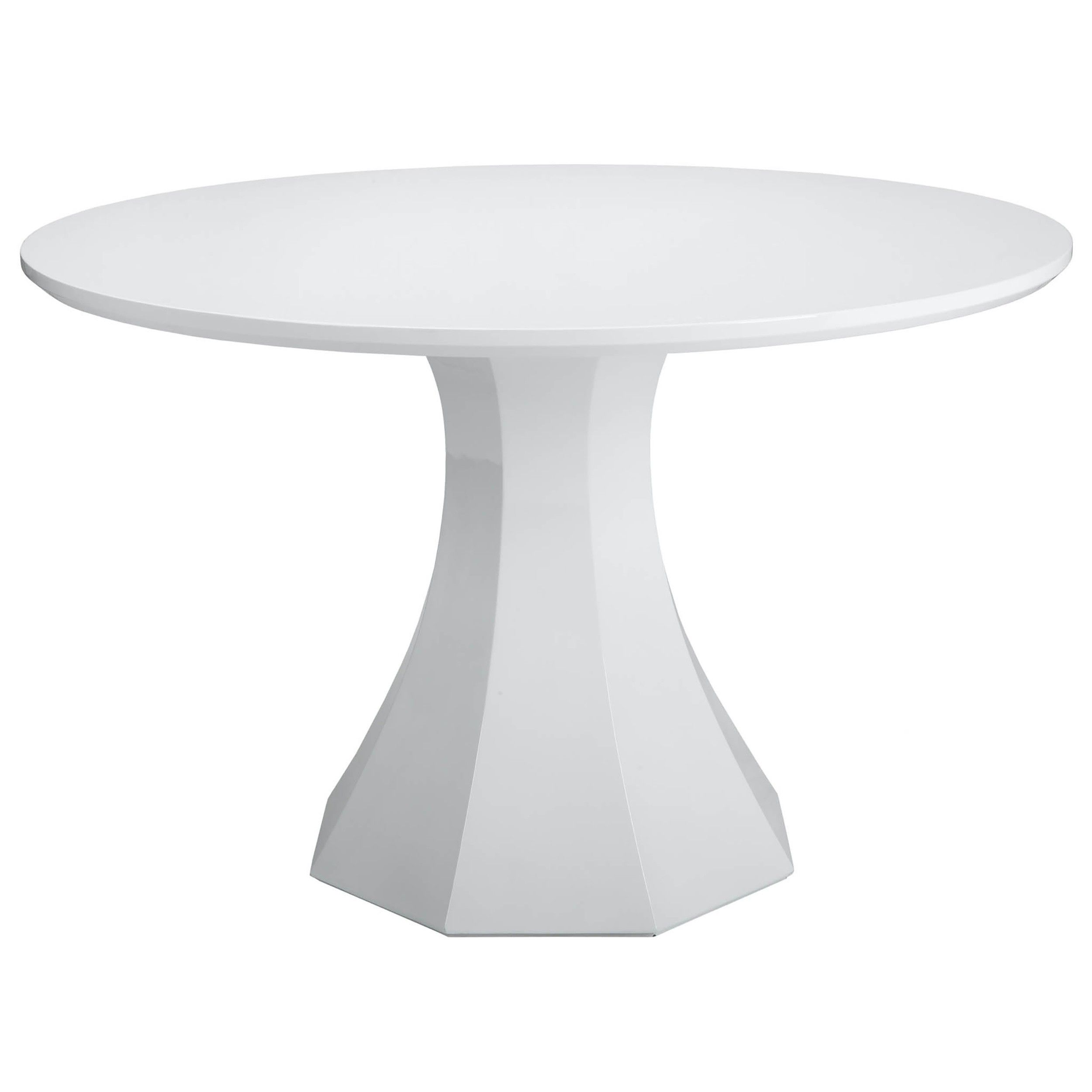 "Sanara Dining Table 48"", High Gloss White - Dining Tables - Dining - Furniture"