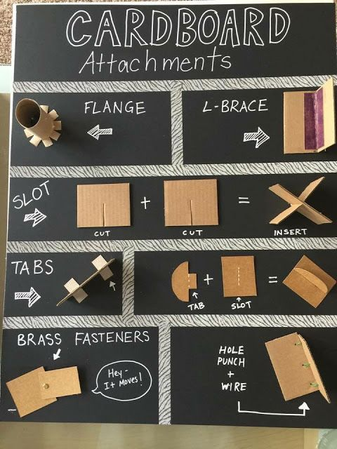 Image result for cardboard attachment techniques