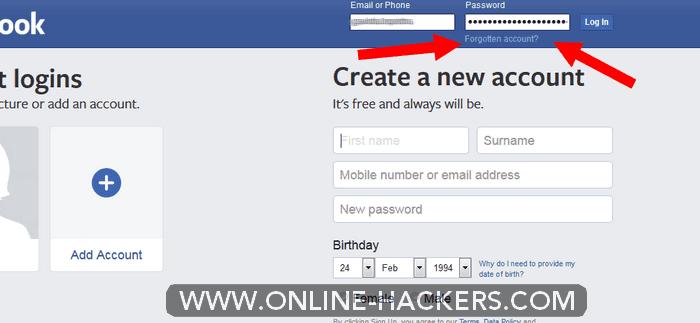 اختراق فيسبوك New Password First Names Ads