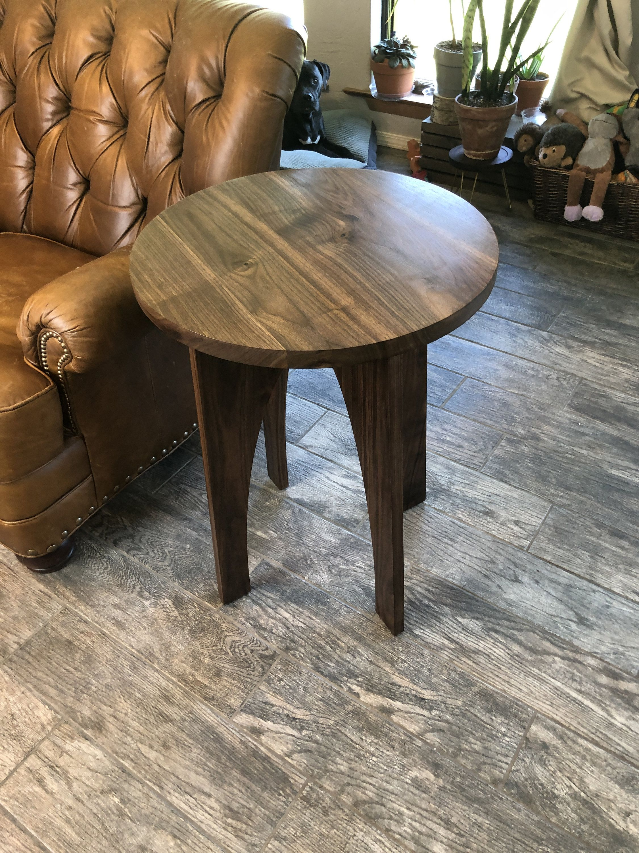 Modern Walnut End Table Hardwood Side Table Walnut Sofa