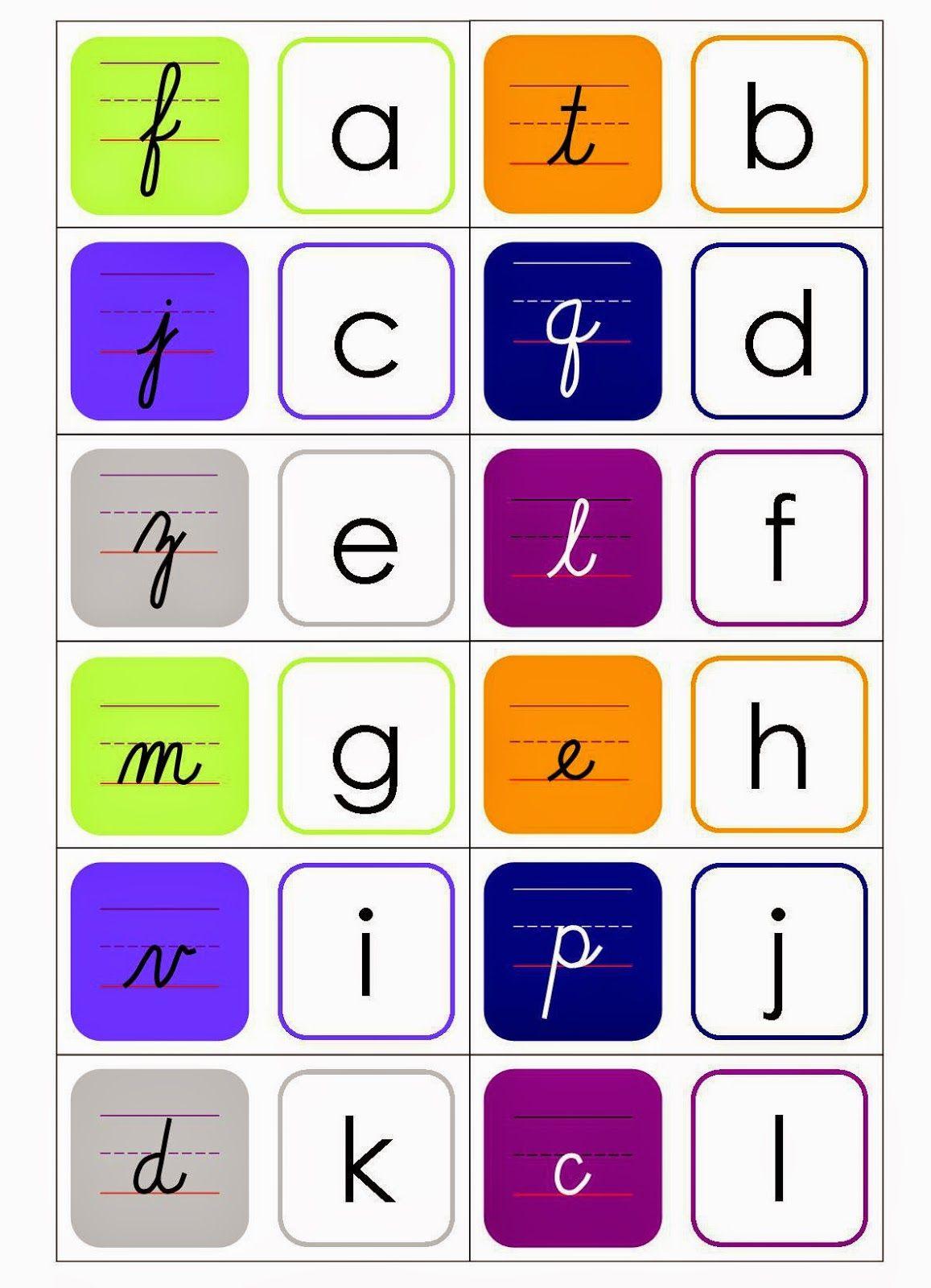 Free Printable Cursive Dominoes