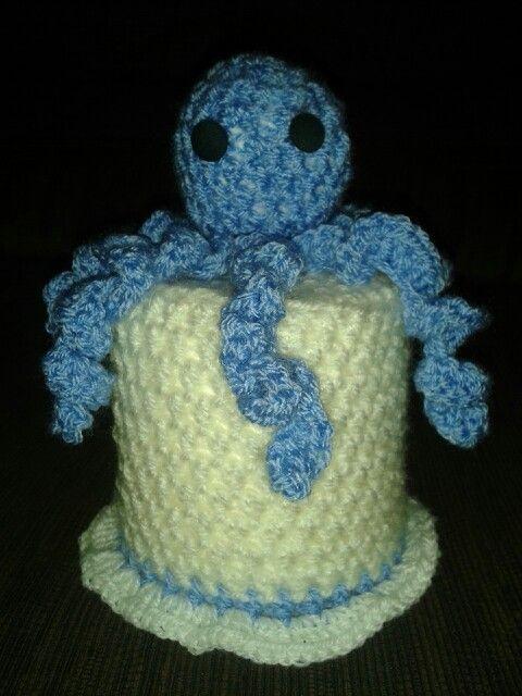 Cubre rollo papel higiénico Pulpo   Crochet   Pinterest   Papel ...