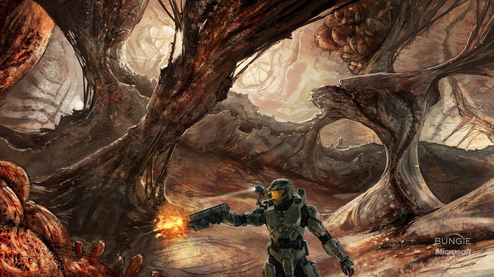 Halo 3 Concept Art Master Chief