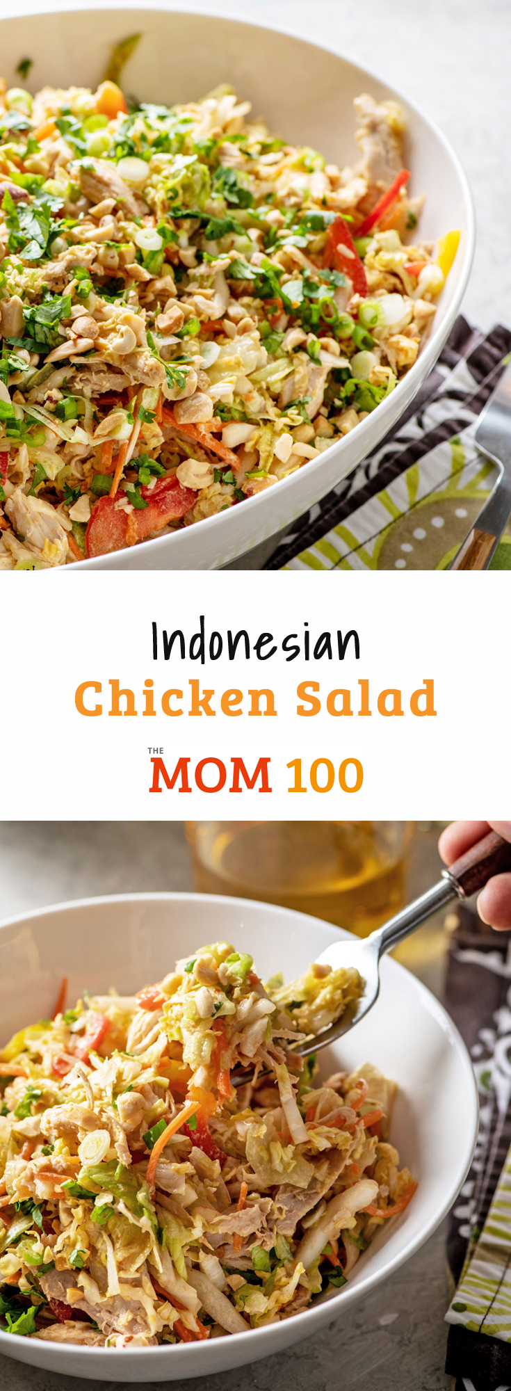 Indonesian Chicken Salad  A collection of amazing Asian flavors come together in this salad Crunchy vegetables stand up to the tender chicken and a creamy spicy peanut dr...