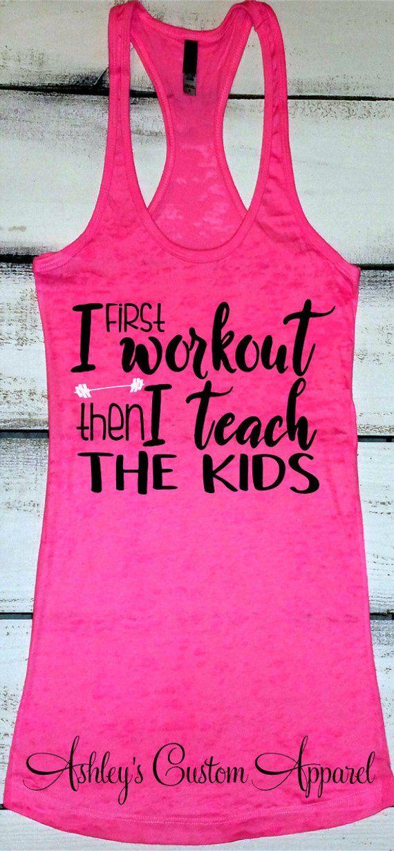 96be8f5df Teacher Shirt, Teacher Workout Tank, Funny Teacher Shirt, Teacher Gift,  Inspirational Shirt, Fitness