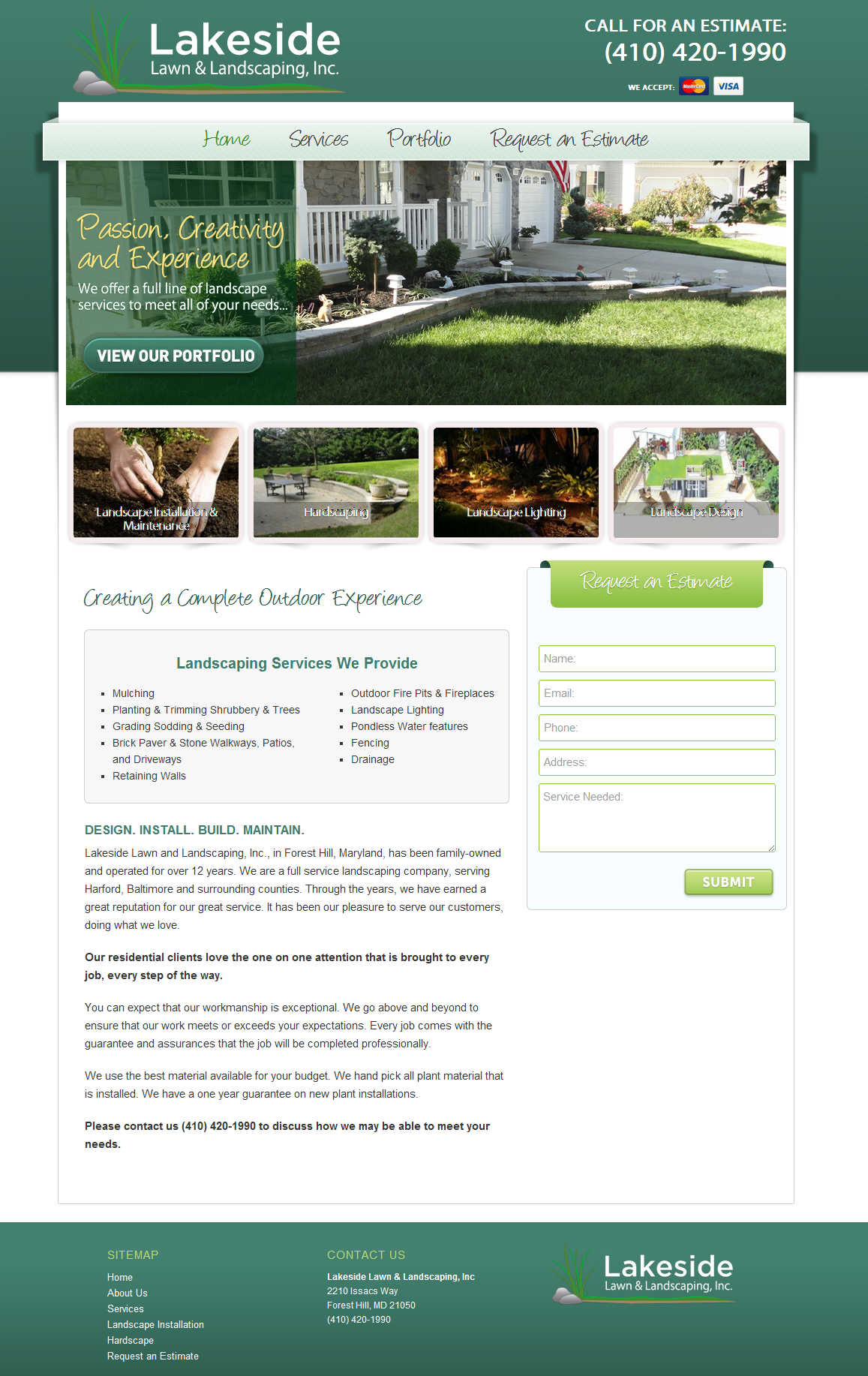 Lakeside Lawn and Landscaping, Inc. #webdesign #portfolio #landscaping