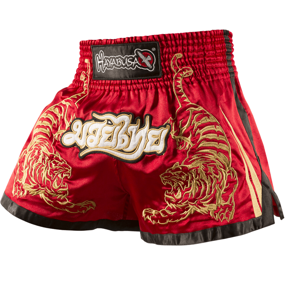 GOLD MUAY THAI SHORTS BOXING SHORTS MMA SHORTS MUAY THAI TRUNKS RED