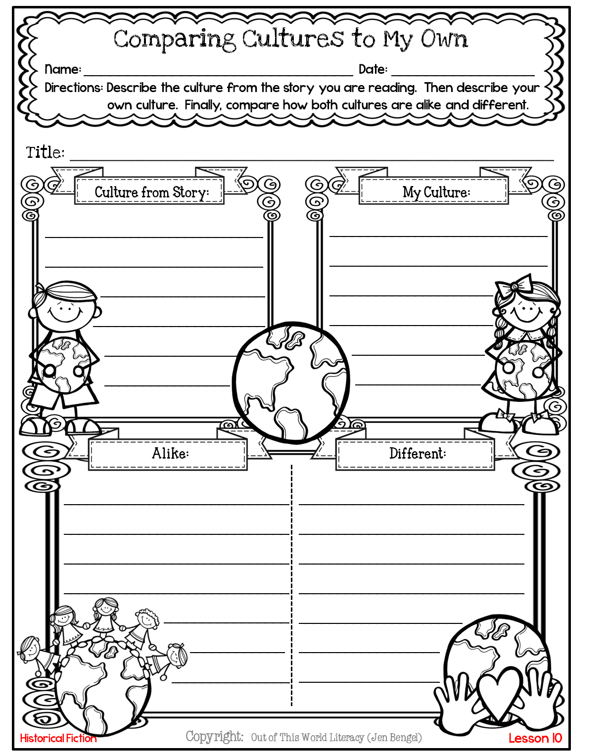 medium resolution of Freebies - Out of this World Literacy   Graphic organizers