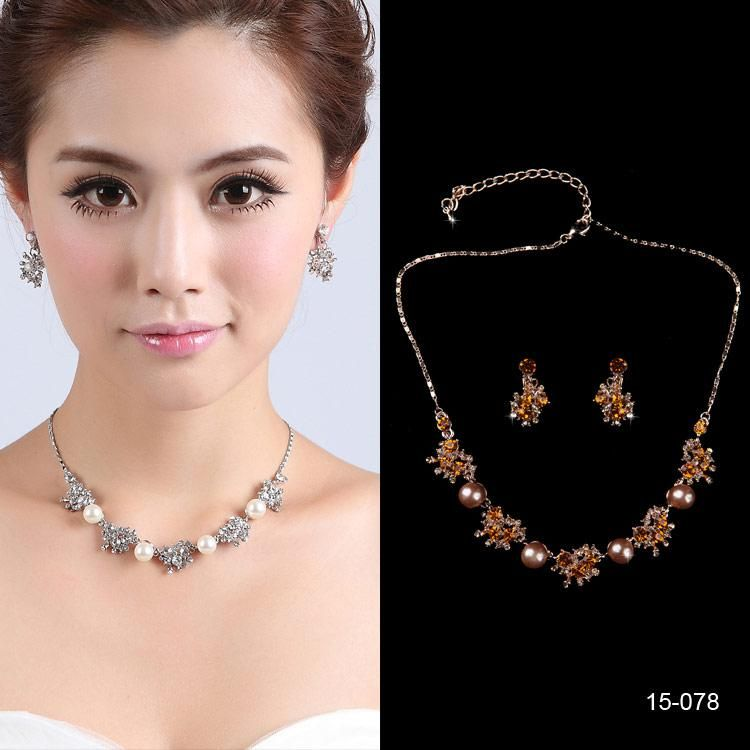 2015 Affordable Simulatedpearl Bridal Rhinestone Jewelry With