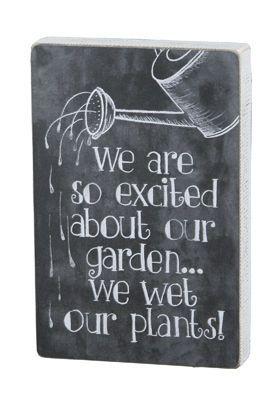 Chalk Sign - Wet Our Plants