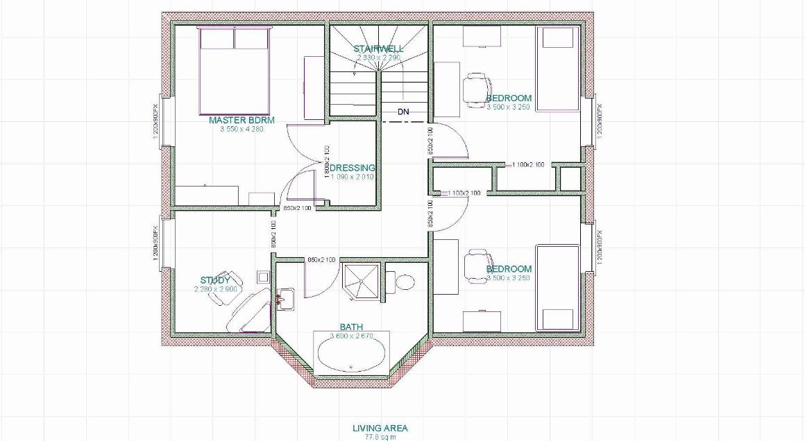 Plan De Maison 2 Chambres Modele Habitat Concept 101 5