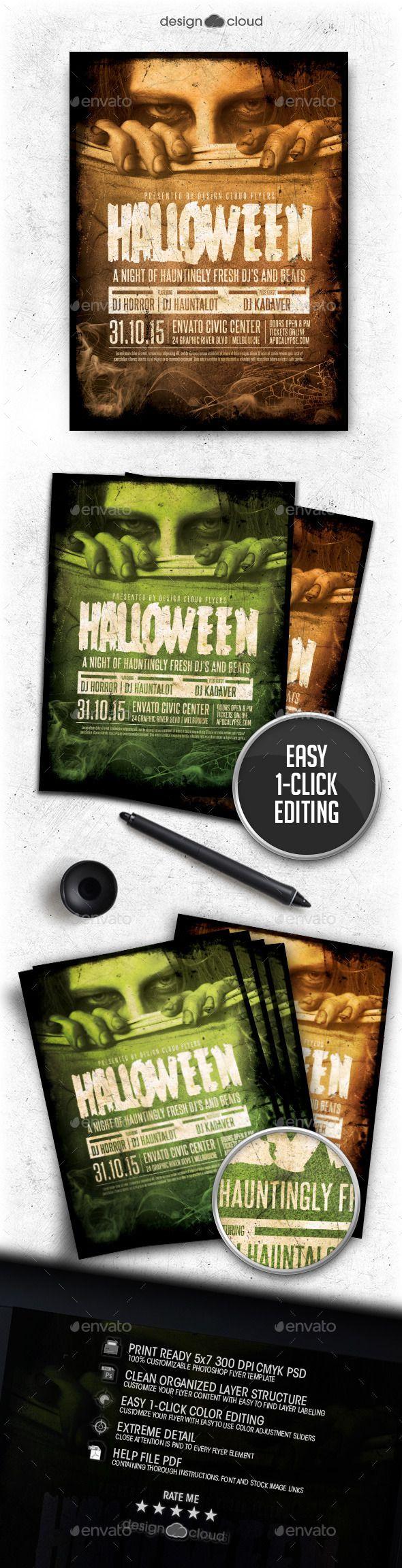 Halloween Event Flyer Template PSD #design Download: http ...