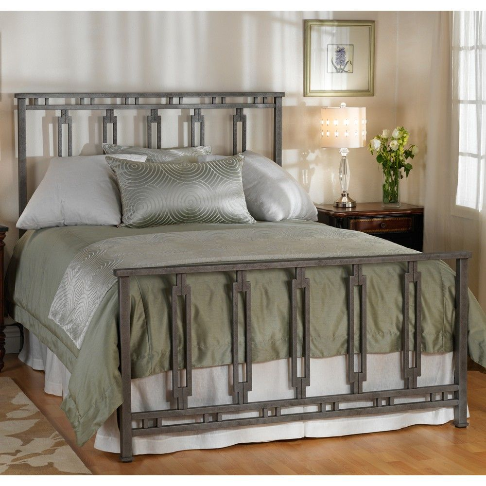 Phoenix Iron Bed by Wesley Allen Silver Bisque Finish