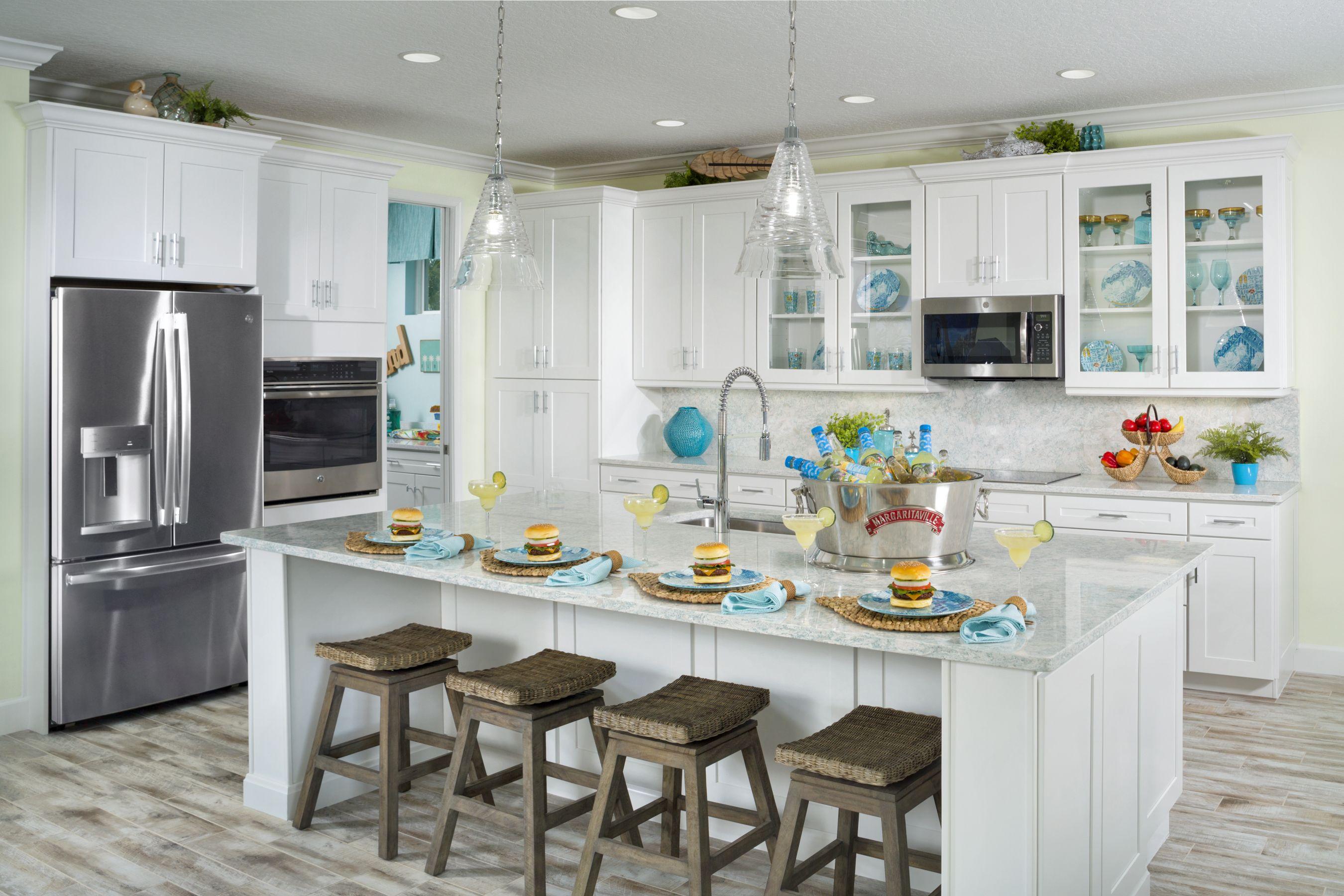 Aruba Model At Latitude Margaritaville Daytona Beach Minto Communities Lake House Kitchen Home Bar Cabinet Home Kitchens