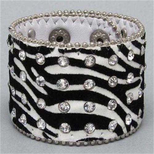 Zebra print and jewels cuff.