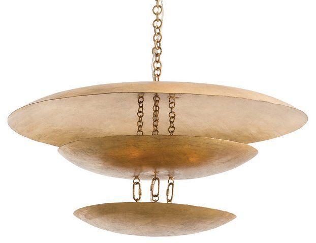 Florko chandelier gold leaf ceiling lights fans indoor and outdoor lighting