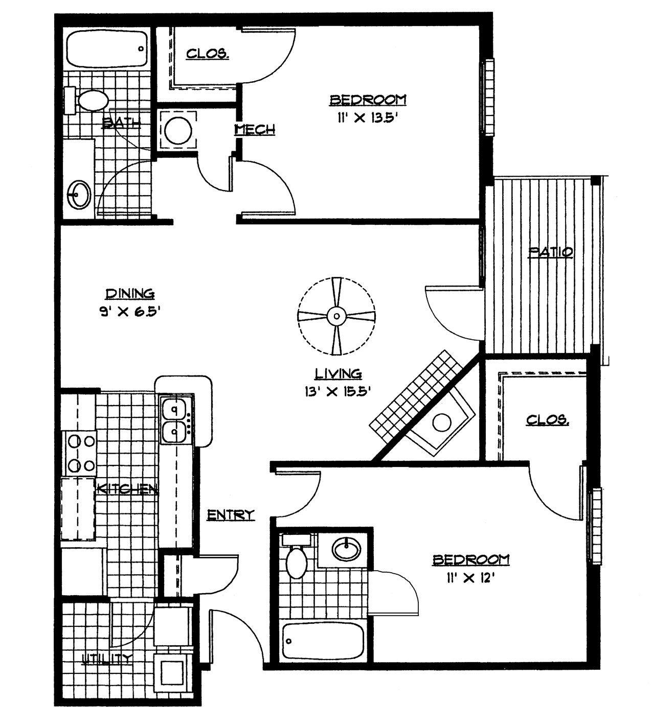 Luxury House Design Pdf Four Bedroom House Plans Two Bedroom Floor Plan Bedroom House Plans