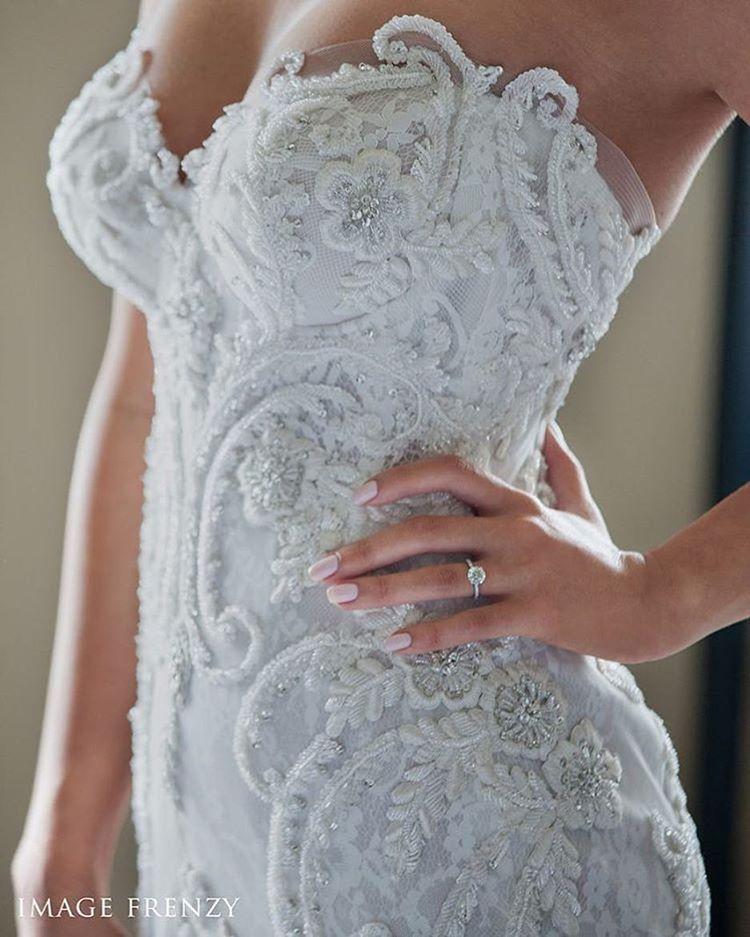 """""""Amazing Steven Khalil detailing  • bride @_dannii92 • photographer @imagefrenzyphotography • #wedding #bridalblog #bridalblogger #brides_selection…"""""""