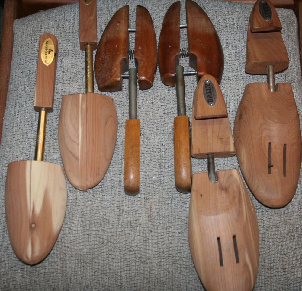 3 Sets Wood Shoe Trees Stretcher Adjustable Bally Xl Shoekeeper And