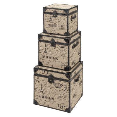 Aspire Paris Decorative Suitcase Trunks (Set of 2) | Wayfair