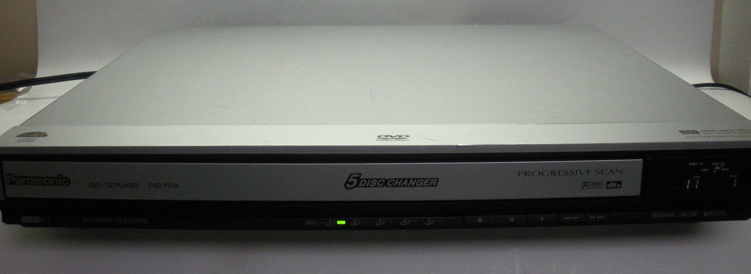 Panasonic DVD-F61A 5 Disc DVD Player Used Works