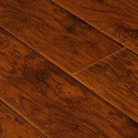 Austere Wood Flooring Walnut Burgundy Laminate Flooring Tile With Thickness 12mm Width 7