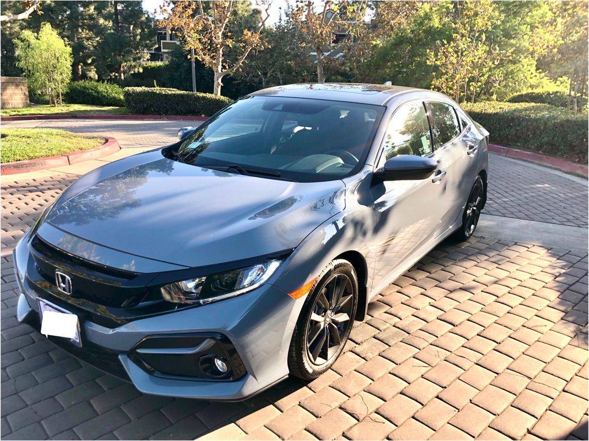 My 2021 Sonic Grey Civic Hatchback