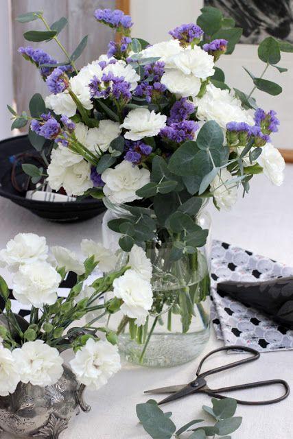 Um grupo para os fim-# Pinks 87-Branca, Statice e Eucalyptus-Ingrid Henningsson-de Primavera e Verão