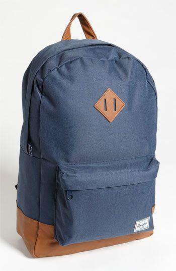 Herschel Supply Co. blue and tan backpack