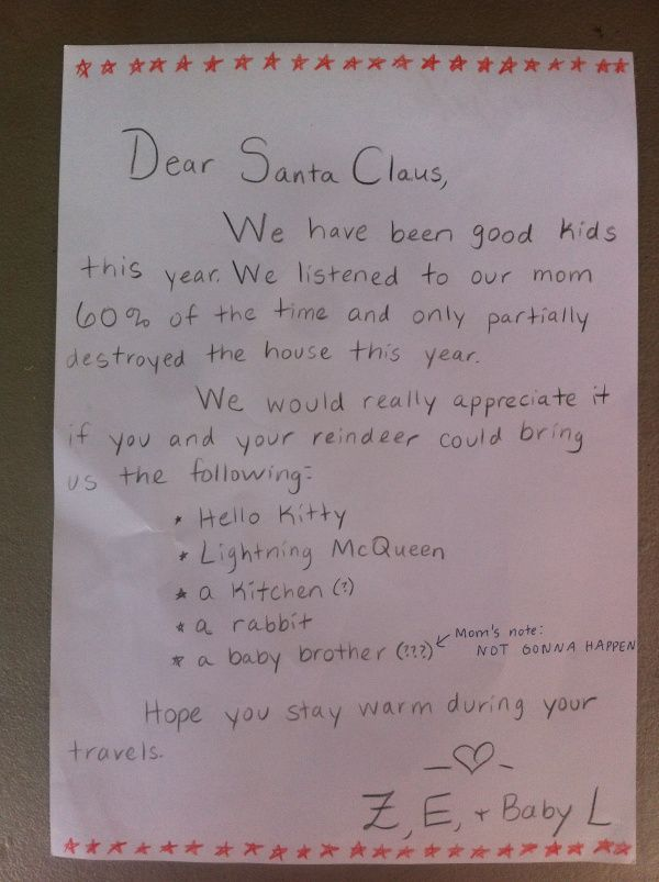 Letter To Santa Address Included Santa Will