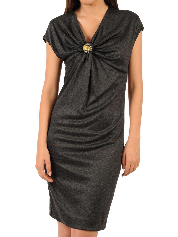 Anthracite rhinestone short dress on sale mistile apparel for