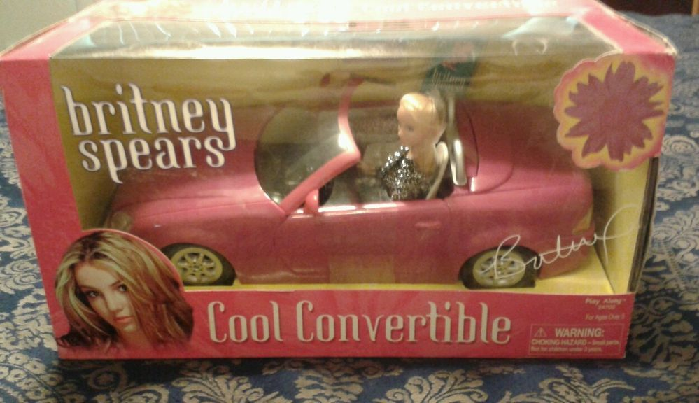 Britney spears play along cool convertible toy and doll vintage collectible rare #DOLLANDCONVERTIBLETOY