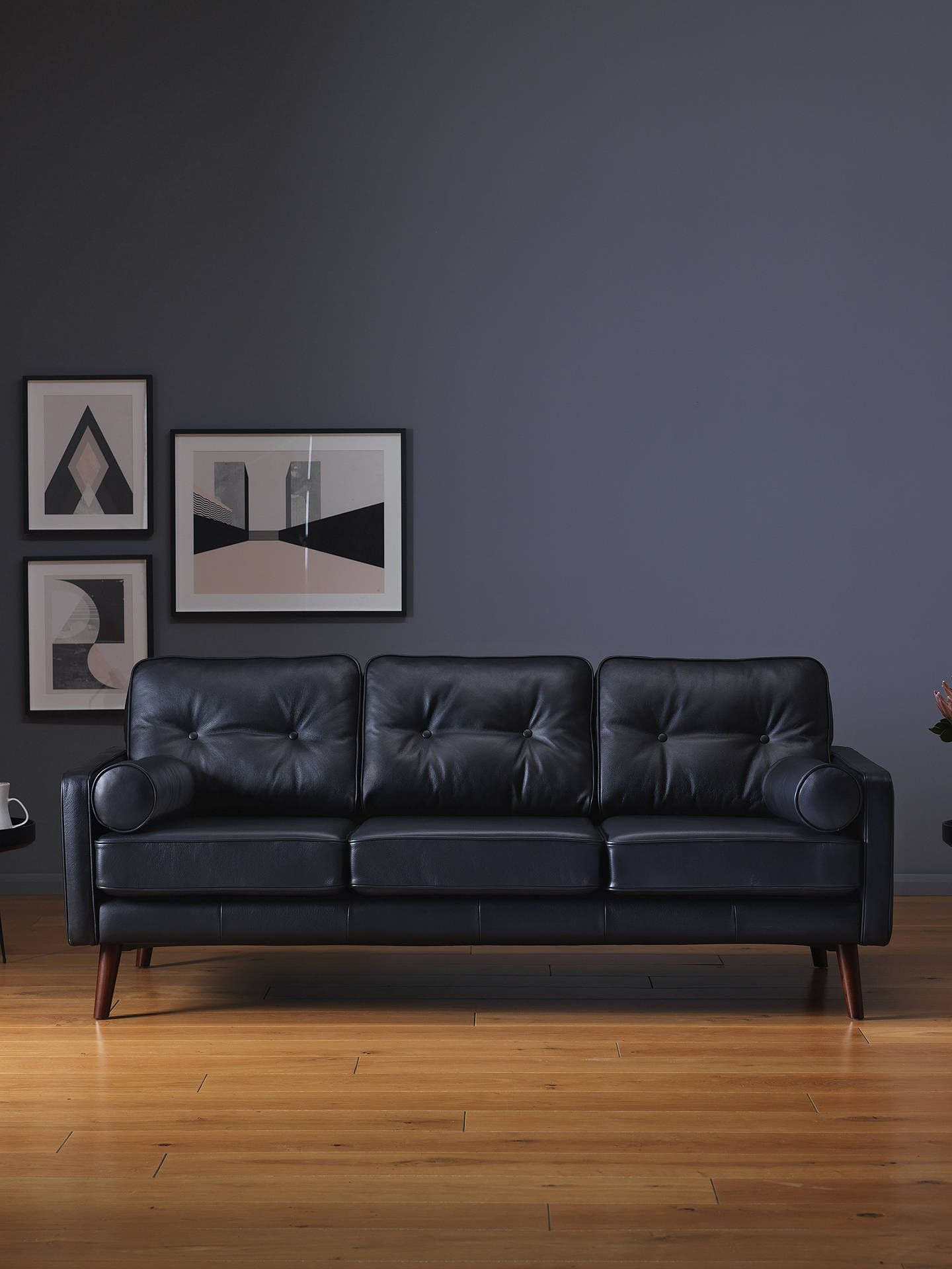 G Plan Vintage The Sixty Five Large 3 Seater Leather Sofa, Capri ...