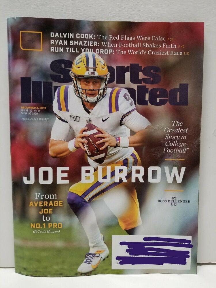 Sports Illustrated Dec. 2019 Joe Burrow Cover Issue LSU