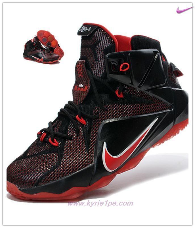 fd2b7c13c8cd scarpe fitness Nero Rosso Nike Lebron 12 684593-908