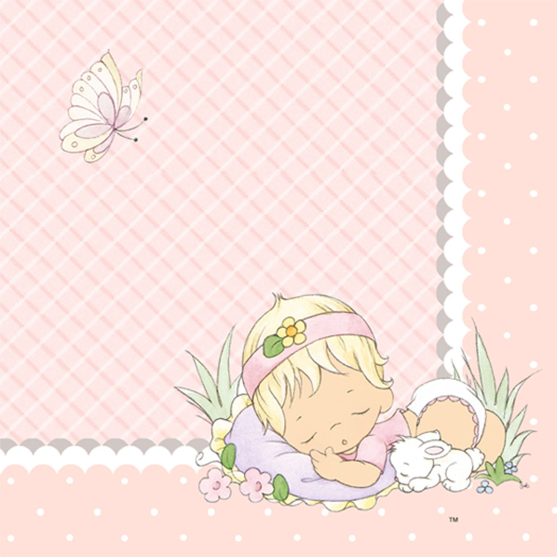 Precious Moments Baby Boy Clip Art | Precious Moments Baby Girl Beverage  Napkins | ThePartyWorks
