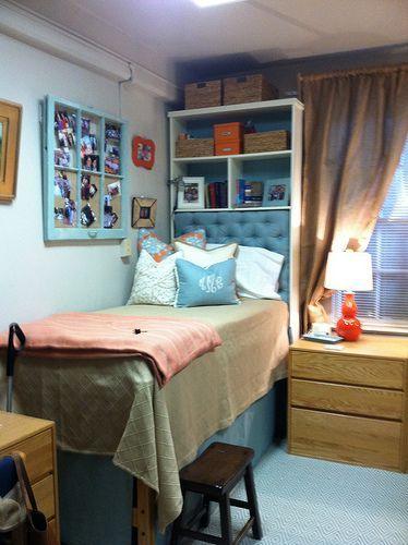 Dorm Room Headboards: Storage Headborad For Dormroom